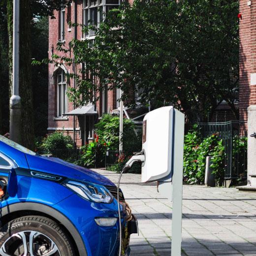 recharge véhicule en ville